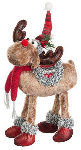 Brandsseller Weihnachts Elch Figur Rentier Stehend ca. 35 cm Motiv 2