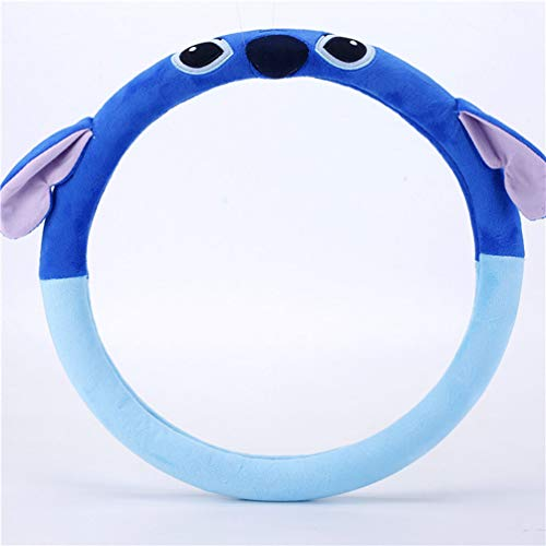 Yourshops Plush Cute Cartoon Steering Wheel Cover for Winter 1 Pack (Stitch)