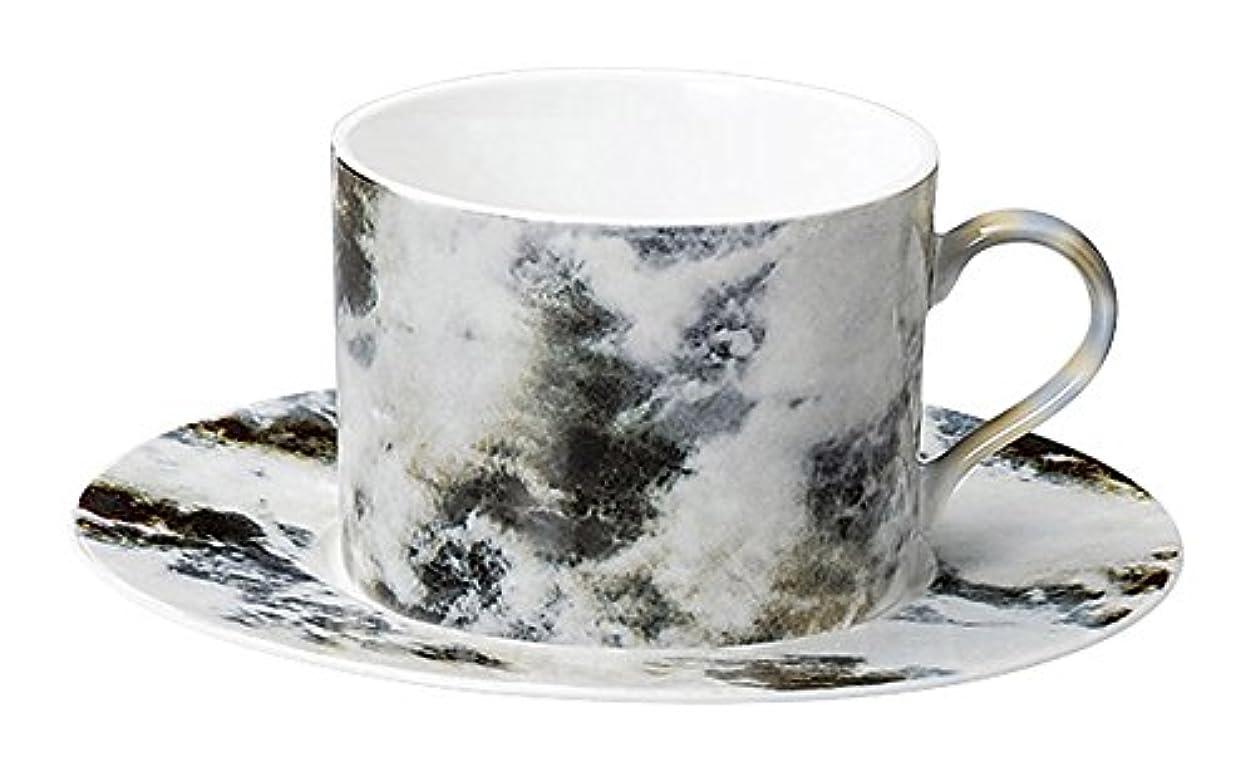 毎日確かめるマダム光洋陶器 マーブル ティーカップ&ソーサー マルキーナ 15732053&15732055