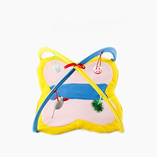 ETbotu Nette reizende faltende Zelt-Matte mit Spielwaren für Haustier-Katzen-Versorgungsmaterialien