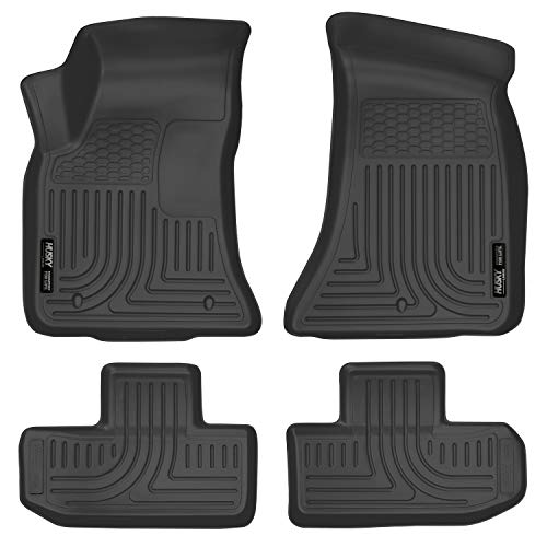 Husky Liners 99171 Black Weatherbeater Front & 2nd Seat Floor Liners Fits 2016-19, 2017-19 Dodge Challenger RWD