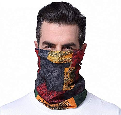 Mission Cooling Neck Gaiter Face Mask for Men Summer,Reusable Cloth Face mask ,Cooling Neck Wraps for Summer Heat (Red)