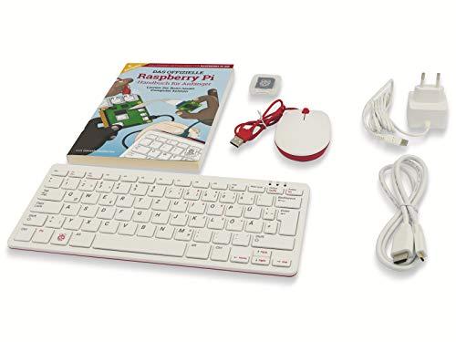 Raspberry Pi Foundation Raspberry Pi 400 Kit Mini-PC, weiß/pink