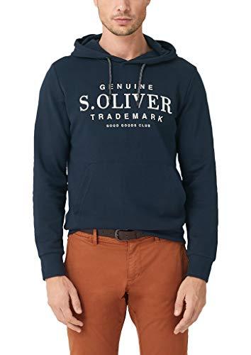 s.Oliver Herren 03.899.41.5228 Sweatshirt, Blau (Fresh Ink 5952), X-Large (Herstellergröße: XL)