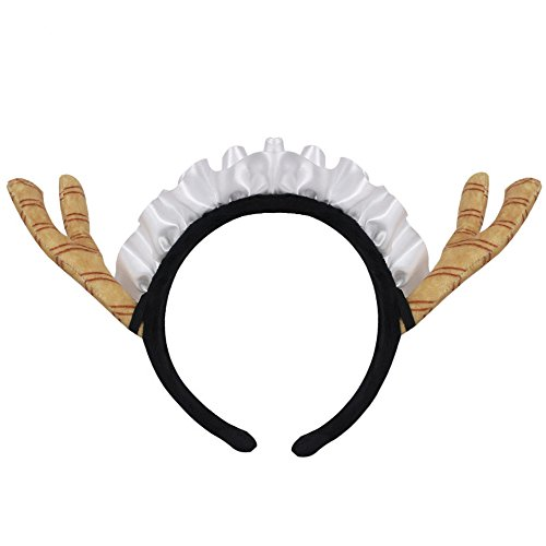 springcos Dragon Maid Cosplay Tohru Horns Headband Accessories Yellow