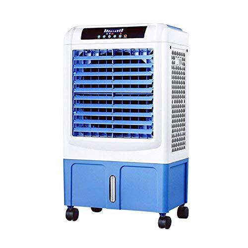 THS@ Ventola del Climatizzatore Radiatore Evaporativo del Grado Commerciale Ventilatore dell\'Aria Ventilatore Capannone Industriale di Fabbrica del Magazzino 120W Bianco + Blu 50x35x89cm