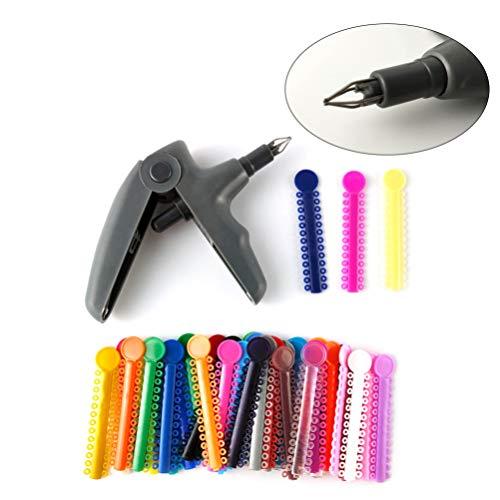 Healifty 1 stücke Ligatur Krawatten Set Tragbare Kunststoff Ligatur Krawatten Set Dental Praktische Dental Ligaturen Behandlung Durable Dental Ligatur Krawatten für Shop Krankenhaus Hause