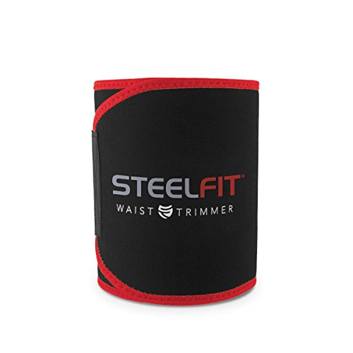 SteelFit Waist Trimmer - Sweat Belt - Increase Circulation - Sweat More - Maximum Fat Burning Capabilities - Burn Calories - Adjustable - Neoprene - Belly Fat Slimming - Stomach Band - Unisex