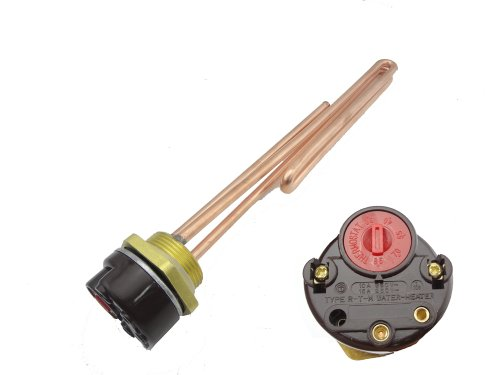 MISOL 1500W G1.25(BSP,DN32) 220V Electrical Immersion Element Booster, with Thermostat/Booster for Water Heater
