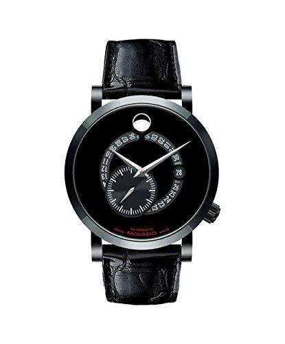 Movado autorizar hombre rojo etiqueta 0606485–Reloj automático suizo