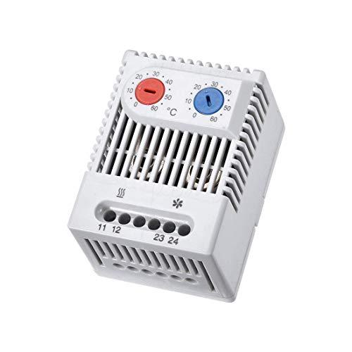 Termostato mecánico YeVhear 0-60° C interruptor de control de temperatura compacto NC/NO regulable