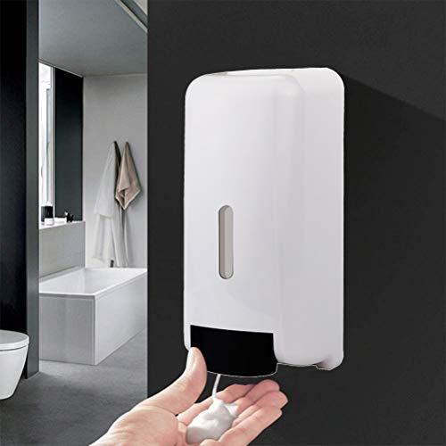 Delaspe Dispensador de jabón de pared, dispensador de jabón manual, se puede utilizar para jabón de manos, gel de ducha, dispensador de champú, adecuado para el hogar, hotel, oficina