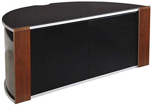 MDA Designs - Sirius 850 TV-Eckschrank, Walnussholz, Schwarz
