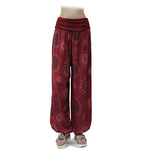 GLOMY Pantaloni Larghi con Fantasia da Donna Stile Harem Sportivi da Yoga Stile