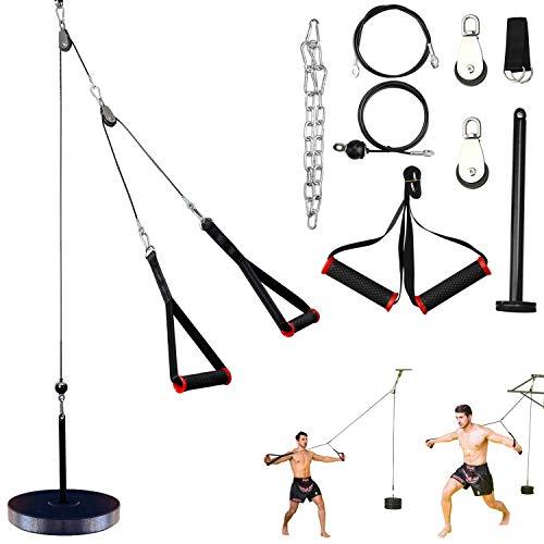 antWalking Poleas de Gimnasio para Casa,Polea de Fitness con Cable de Máquina para Musculacion,Entrenamiento de la Fuerza del Brazo, Byceps,Triceps,Accesorio de Entrenamiento para Antebrazos