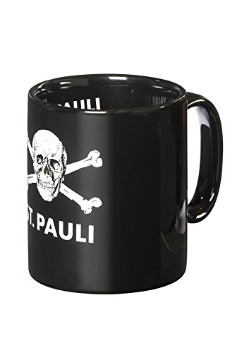 FC St. Pauli Totenkopf Tasse Kaffeebecher Mug (schwarz, one Size)
