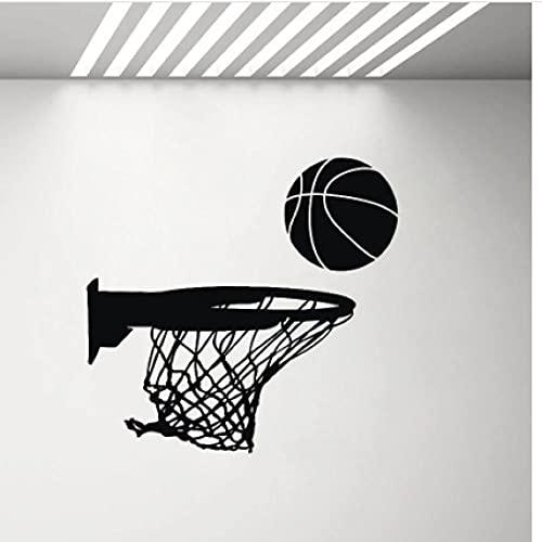 Xiaopang Basketball Hoop Wall Vinyl Sticker Sports Decor Garage Man Cave Decoration Wall Decal Childrens Bedroom Boy Art Stickers 44X42 cm