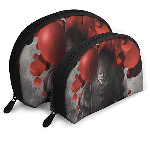 XCNGG Halloween It Classic Kosmetiktaschen Tragbare Tasche Clutch Pouch Set Frauen Männer Reisetasche Mit Reißverschluss Handtasche Organizer 2St