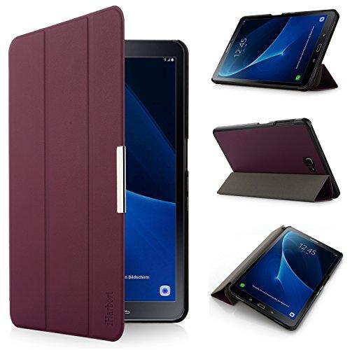 iHarbort® Premium Hülle für Samsung Galaxy Tab A 10.1 (SM-T580/T585) - Samsung Galaxy Tab A 10.1 hülle Etui Schutzhülle Case Cover Holder Stand mit Smart Auto Wake/Sleep-Funktion (Lila)