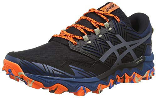 Asics Mens Gel-Fujitrabuco 8 Running Shoe, Directoire Blue/Black, 45 EU