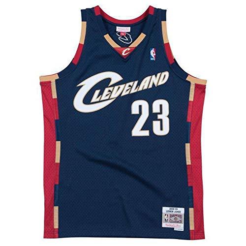 Mitchell & Ness LeBron James #23 Cleveland Cavaliers 2008-09 Swingman NBA Trikot Navy, S