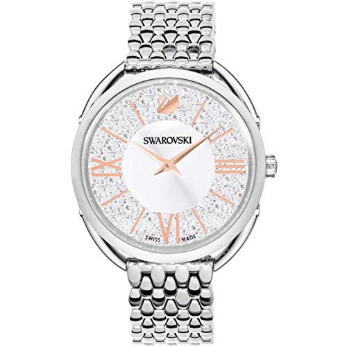 Swarovski Women's Crystalline 35mm Steel Bracelet & Case Quartz Watch 5455108