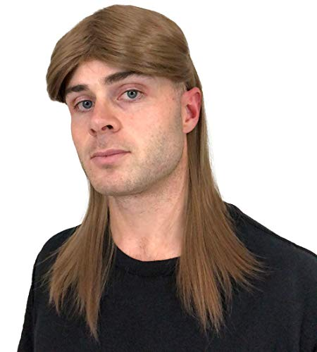 Brown Rocker Mullet Wig: Mullet Rocker Wig for Men 80s Mens Rocker Wigs Costumes Theme Party Men's Rockstar Wig Halloween 80's Rockstar Wigs for Men Wigs Rockstar Costume Wig