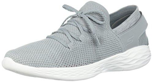 Skechers Damen You - Spirit Slip On Sneaker, Grau (Grey/White Gyw), 39 EU