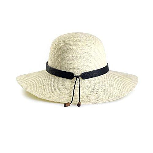 Honey strandhoed vrouwen strohoed zomer Big Brim vakantie zonnehoed off-white