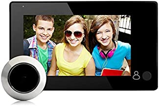 Surveillance Recorder 4.3In Door Eye Camera Camera Doorbell Motion Detection Shooting Recording Display Video Viewer Digit...