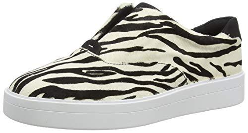 Clarks Damen Hero Step. Slip On Sneaker, Schwarz (Zebra Print Zebra Print), 41 EU