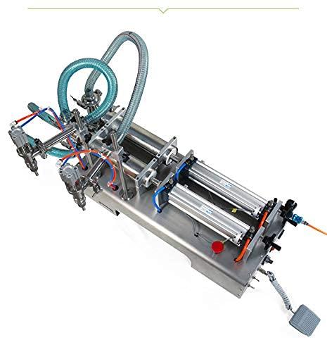 N/Z Living Equipment 50-500ML Eléctrica Neumática Máquina de llenado de líquidos de Doble Cabezal Champú Gel Agua Vino Leche Café Máquina de llenado de Bebidas