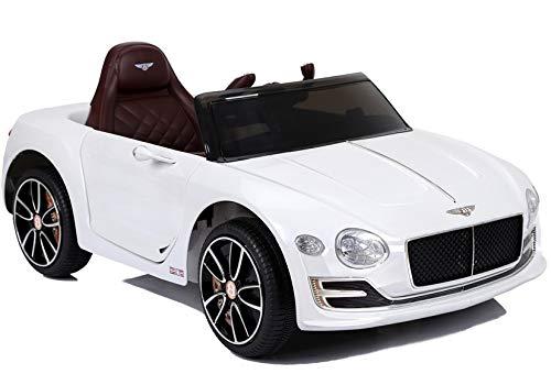 LEAN Toys Bentley - Coche infantil con asiento de piel y neumáticos de goma EVA