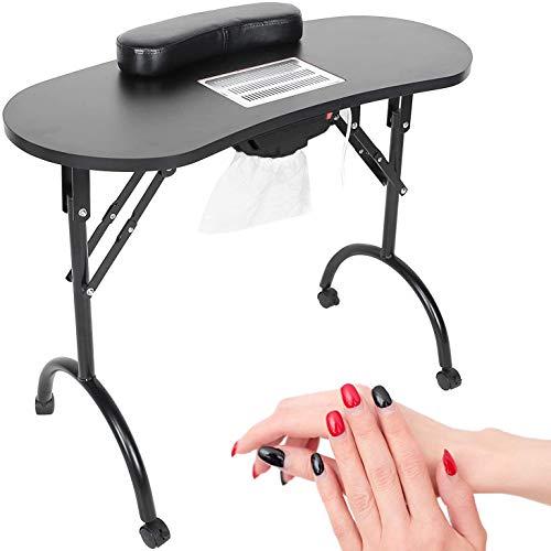 BELTOM Table DE MANUCURE avec ASPIRATEUR Pliable TRASPORTABLE + Sac Ne pèse Que 12 KG ! 98 x 44 x...