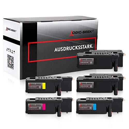 5 Logic-Seek Toner kompatibel mit Dell E525w LED-Farblaser-Multifunktionsdrucker