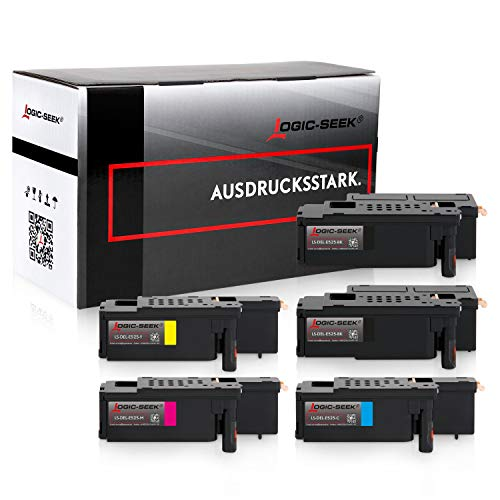 5 Logic-Seek Toner kompatibel mit Dell E525w LED-Farblaser-Multifunktionsdrucker