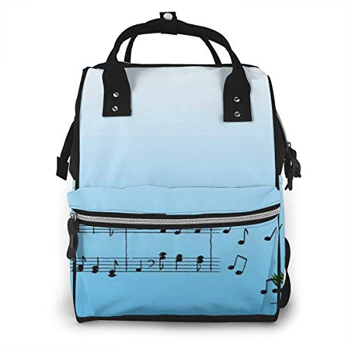 Snoopy Listen to The Music - Mochila de viaje multifunción impermeable para pañales