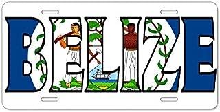 Fhdang Decor Belize Aluminum License Plate - Aluminum License Plate,Front License Plate 12.5x6.5 Inches