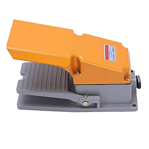 Cikuso Pied Lt4 Interrupteur En Aluminium Caisse à Pédale Interrupteur à Pédale Pour Machine Outil Contr?le Contact D'Argent