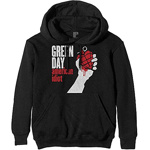 Rock Off Green Day 'American Idiot' (Black) Pull Over Hoodie (Large)