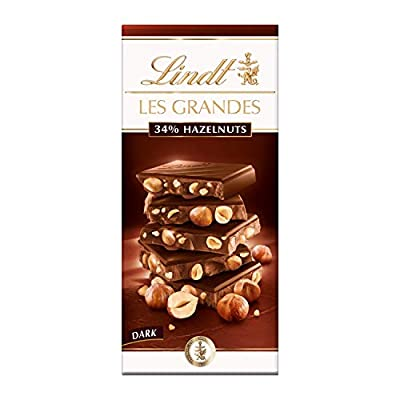 lindt les grandes dark chocolate hazelnut bar, 150g (pack of 13) Lindt Les Grandes Dark Chocolate Hazelnut Bar, 150g (Pack of 13) 41u2h7Vf2DL