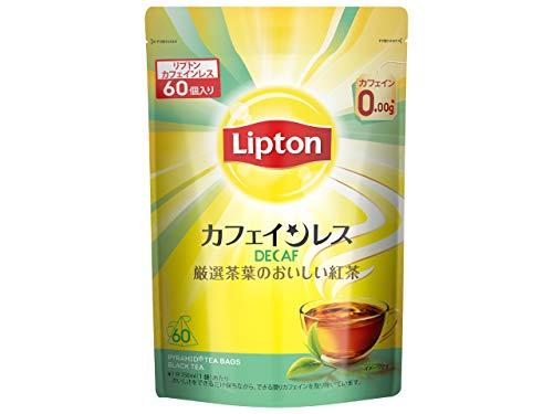 【Amazon.co.jp限定】 リプトン カフェインレスティー 60袋入 デカフェ・ノンカフェイン ティーバッグ