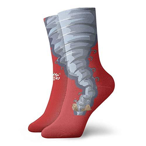 Blanco Tornado Unisex Deporte Corto Calcetines Transpirables Amortiguados Trabajo Calcetines de Hombre Mujeres Para Correr Senderismo Caminar Atlético