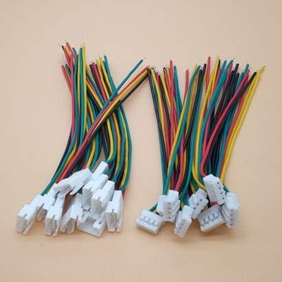 SIMNO JIAHONG Conectores de Cable de Alambre de 10PAIR Micro JST PH 2.0 2P 3P 4P 5P 6PIN Conector de Enchufe Femenino Masculino con Cables de Alambre 100mm (Color : 10 Pairs 4P)