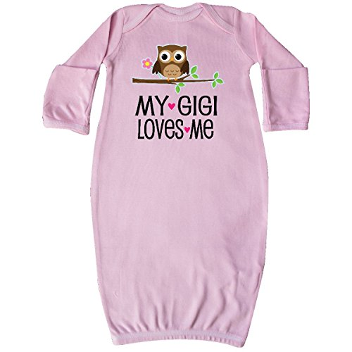 inktastic - My Gigi Loves Me Girl Owl Newborn Layette Pink 2d66b