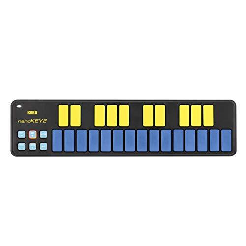 Korg nanoKEY2 25 key USB MIDI Keyboard - Blue Yellow