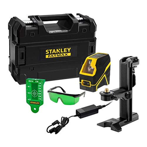 Stanley - FatMax FMHT77595-1 Nivel láser de líneas verdes en cruz Fatmax a batería