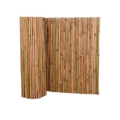 Nature by Kolibri Sichtschutz aus Bambus 90x300cm, Bambusmatte Sichtschutzmatte Windschutz Zaun für Garten Balkon Terrasse
