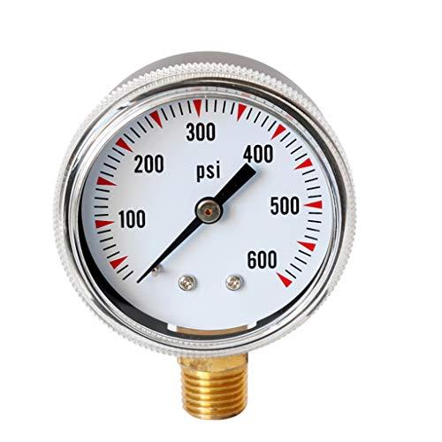 0-300PSi H HILABEE Manometer 1//8 BSPT Anschluss von unten 0-20Bar