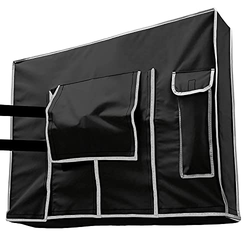 Outdoor TV Cover 32 inch - Weatherproof Protector for Flat TVs with Bottom Seal, 600D Waterproof Material. Extend Your TV Life.